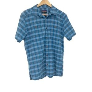 Patagonia Men's Back Step Blue Button Down Shirt